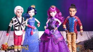 Mal, Evie, Carlos + Jay Doll 4 Pack | Unboxing | Disney Descendants