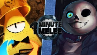 Bill Cipher vs Sans - One Minute Melee S5 EP10