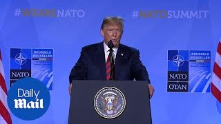 Trump on UK visit, meeting with Putin and congratulates Croatia on World Cup win