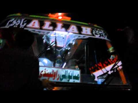 Pakistan India bus punjab bandial sargodha multan khushab harnoli