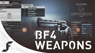 BATTLEFIELD 4 - All Weapons, Gadgets, Attachments, Equipment + Customisation