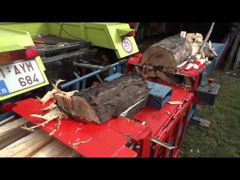 Homemade log splitter