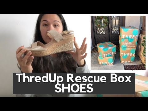 6c61b908eea ThredUp Rescue Box Shoes Haul Unboxing and Review - Watch Online All  Dramas
