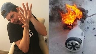 HOVERBOARD EXPLODES IN MY HOUSE!!