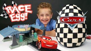 Disney Cars Drag Race Toys & Kinder Play-Doh Surprise Egg w/ Disney Cars Racers by KID CITY