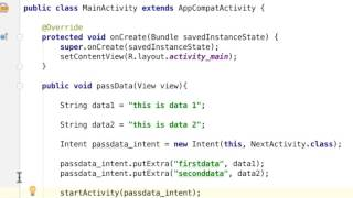 How to Pass Data From One Activity to Another Activity in Android Studio