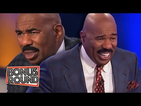 10 FAMILY FEUD PODIUM ANSWERS & MOMENTS Steve Harvey Got Confused Or Laughed Over
