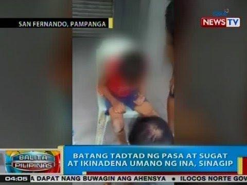 BP: Batang tadtad ng pasa at sugat at ikinadena umano ng ina, sinagip sa Pampanga