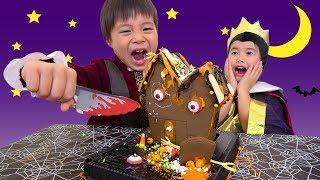 ハロウィン お菓子の家 作りに挑戦 料理 こうくんねみちゃん Halloween made Candy house PlayDentist Family Fun Pretend Playtimed