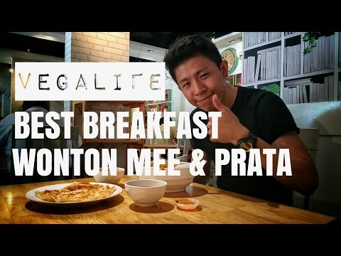 Best local Vegetarian breakfast Wonton noodles and Prata IN SINGAPORE 🌱 VEGALIFE 🌱