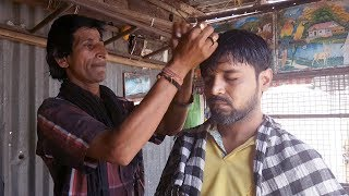 ASMR Street Barber Head Massage