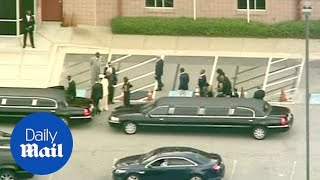 Family and friends gather for Bobbi Kristina Brown's funeral - Daily Mail