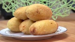 كبة الرز مقلية مقرمشة بدون بيض أو بطاطا | كبة التمن العراقية Rice Kibbeh