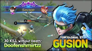 1 Savage, 2 Maniac, 30 Kill without Death?! Cyber Ops by King of Gusion Doofenshmirtzz ~ MLBB