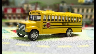 The wheels on the Bus go round and round nursery rhyme song for children