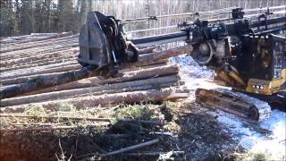 Caterpillar Delimber (forestry) in Action