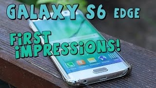 Samsung Galaxy S6 Edge 64GB Gold Platinum - My First Impressions - Unboxing & Hands-On !