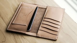 Making a Minimalist Leather iPhone Wallet