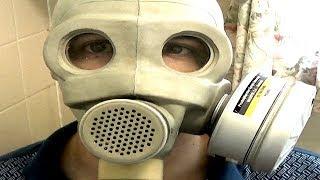 Soviet PMG Gas Mask Test
