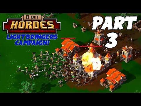 8-Bit Hordes Walkthrough: Part 3 - 3 Star Lightbringers Campaign! - PC Gameplay Playthrough 60fps