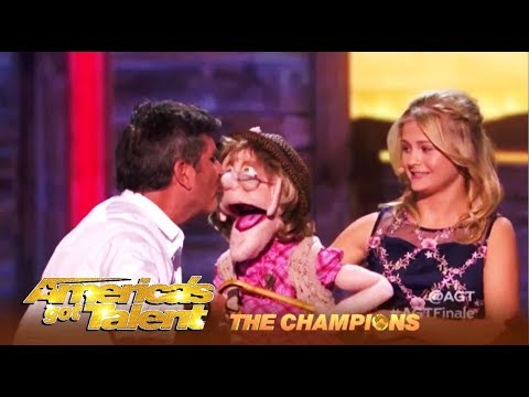 Darci Lynne SHIPS Simon Cowell & Edna The Puppet AGT Champions