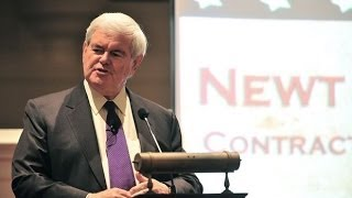 Newt Gingrich schools two college students