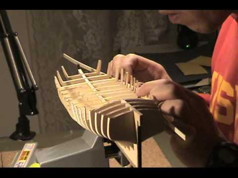 Ship Model Armed Virginia Sloop 1768 Model Shipways Preparing For Planking Part 2