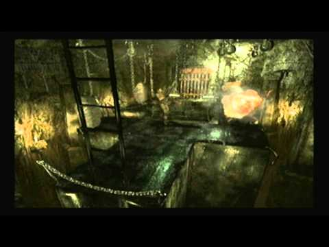 Resident evil remake extras,Wesker and lisa take a fall