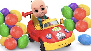 Surprise Eggs - Car Toy Videos for Kids - Surprise Egg Videos from Jugnu Kids