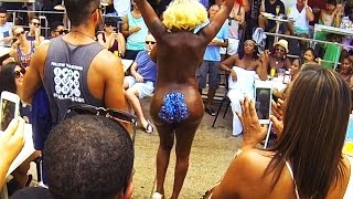 Nude Dancer on the Street in South Beach