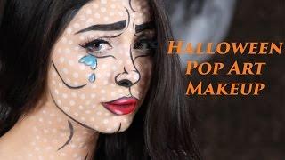 Halloween Pop-Art Makeup - مكياج هالوين (English subtitles)