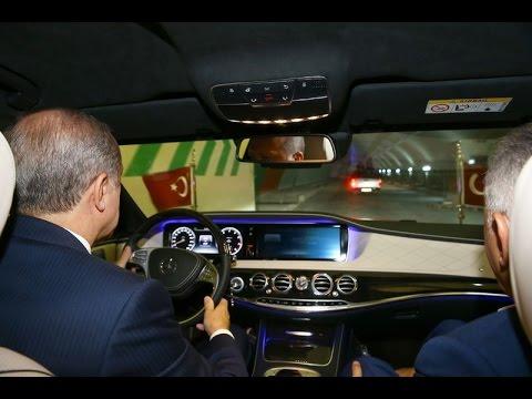 Cumhurbaşkanı Erdoğan, Avrasya Tüneli'nden böyle geçti