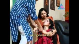 malayalam serial actress saree slip from