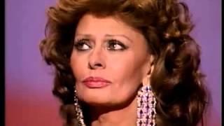 Sophia Loren receiving an Honorary Oscar