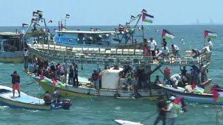 Gaza boats return to port after maritime protest