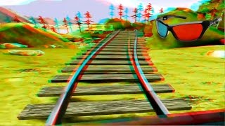 3D Roller Coaster VIDEO 3D ANAGLYPH RED/CYAN Full HD 1080p