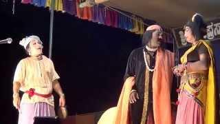 Yakshagana -- Dhee shakthi - 5 - Hasya -  Purandara moodkani ,Shanmukha and Narasimha Gavnkar