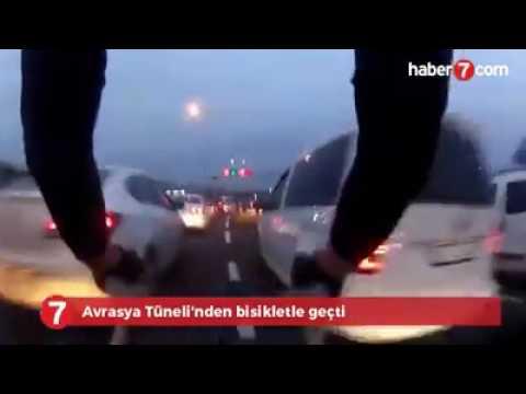 Bisiklet ile Avrasya tünelinden geçti.
