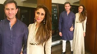 Kareena Kapoor And Saif Ali Khan Hot Traditional Look