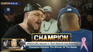 CHAMPION | RUM NITTY VS IRON SOLOMON - SMACK/URL