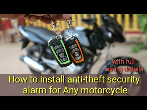 How to install anti-theft security alarm for all motorcycle's