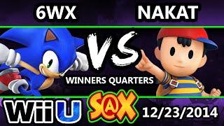 S@X - 6WX (Sonic) Vs. LoF | NAKAT (Ness) SSB4 Winners Quarters - Smash 4 Wii U