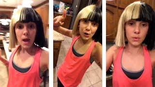 Millie Bobby Brown imitating Maddie Ziegler   Snapchat