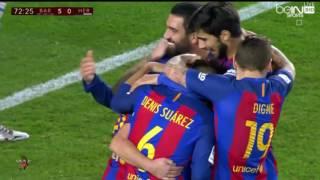 اهداف مباراة برشلونة وهيركوليس 7-0 كاس الملك تعليق يوسف سيف22-12-2016-HD