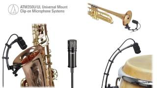 ATM350U/UL Universal Mount Clip-on Microphone Systems