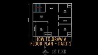 AutoCAD 2D draw a simple floor plan - Part 1