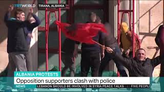 Protests in Albanian capital