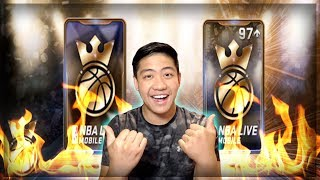 NBA LIVE MOBILE KINGS OF THE COURT BUNDLE OPENING!! 97+ OVR MASTERS FIRE PACKS?!?!