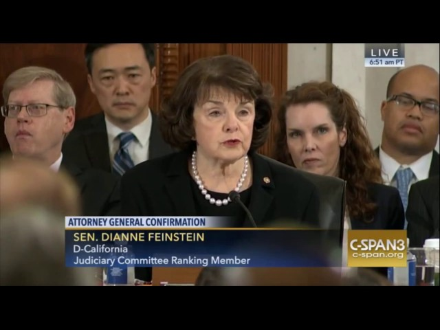 California Sen Diane Feinstein's Full Opening Statement in Sen Jeff Sessions Confrimation Hearing