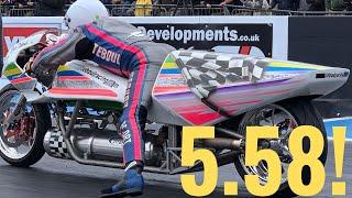 ROCKET POWERED MOTORCYCLE BREAKS WORLD RECORD!